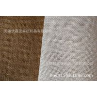 【厂家】低价现货箱包布 棉黄麻布 可定染印花