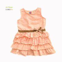 欧美外贸出口 原单夏款童裙 女童豹纹纯棉连衣裙 0-3岁 品牌童装