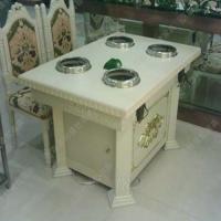 爆款热荐 欧式餐馆火锅桌 钳入式小肥羊餐厅桌椅 可定做