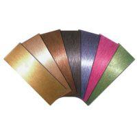 厂家直销各式不锈钢彩板玫瑰金板钛金板
