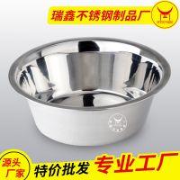 潮州厂家直批宠物用品餐具 猫狗粮食盆饮水碗不锈钢狗碗防滑