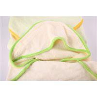 山东毛巾厂批发 宏春婴儿浴巾用品竹纤维浴巾被 有帽新生儿大斗篷浴巾