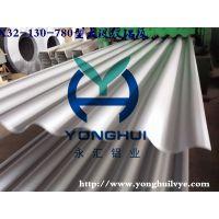 永汇YONGHUI彩涂铝镁锰弧形波纹压型铝板