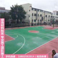 鼎湖标准设计户外篮球场 彩色篮球场建设工程 柏克承接防滑球场施工