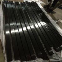 亮光304黑钛金不锈钢方管25*25*0.5不锈钢黑钛金管
