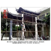 惠森古建提供防腐木牌坊仿古实木门头实木单开双开大门等古中式大门造型制作