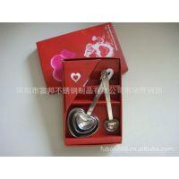 供应彩盒心形量勺套装 精美创意礼品套装