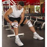 Aomardon加长弹性护膝健身护膝健美训练举重绷带深蹲护膝