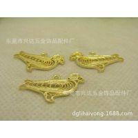 DIY饰品配件 28*15MM铸铜掐丝小鸟吊坠 个性饰物