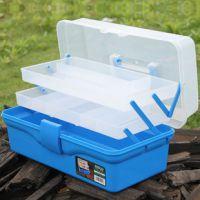 14.5寸三层塑料多功能收纳箱 工具箱医药箱 美术盒  PP材质 坚固
