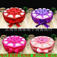 三角形蛋糕盒大号红色蛋糕型纸质喜糖盒纸盒创意结婚喜糖盒子欧式