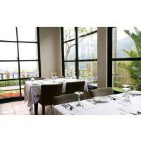 莫戈金属酒店西餐厅不锈钢包边玻璃隔断