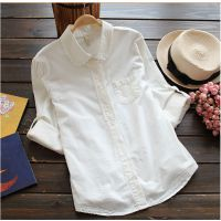 2014新款甜美森林系小清新刺绣装饰门襟长袖女式衬衫衣