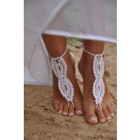 欧美ebay 亚马逊速卖通外贸热销脚饰品 纯棉纯手工钩织脚链030