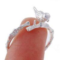 新款 速卖通 欧美 外贸饰品批发 哑银 小鸟 合金 开口 合金戒指