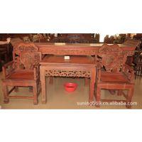 老挝大红酸枝价格 越南红木家具批发 交趾黄檀家具 中堂
