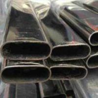 201不锈钢椭圆管现货 可拉丝 镀钛金 黑钛