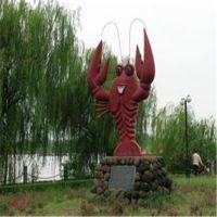海洋动物雕塑玻璃钢大门口仿真龙虾雕塑 餐厅门扣卡通雕塑