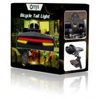 智能遥控自行车灯 转向灯 激光尾灯 安全警示灯 欧米新款遥控尾灯