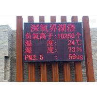 旅游区负氧离子含量检测系统_公园负离子监测系统_OSEN厂家直销配LED屏
