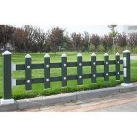 pvc草坪围栏@广东塑钢草坪护栏@互胜PVC锌钢栅栏厂