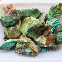 纯天然绿松石原矿 原石湖北绿松石原石未打磨 未注胶 无加色批发