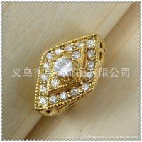 中东饰品 18k镀金镶钻戒指 女 速卖通敦煌供货1320680