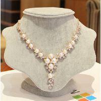 H923 批发新款 韩国夸张珍珠项链女锁骨链 新娘结婚婚纱首配饰