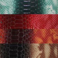 供应大蛇纹PU皮革蛇皮PU皮革蛇纹面料