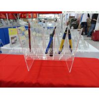 亚克力笔展架 有机玻璃展示架 透明亚克力多层笔架 加工厂家定做