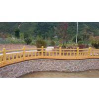 供应郑州天艺围栏模具1.5米水泥仿木景观河道护栏