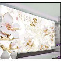 佛山陶瓷背景墙 玻璃浮雕彩绘印刷设备 电视瓷砖背景墙UV打印机