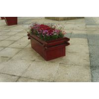 康图PS仿木花箱大堂隔离花盆园林绿化花槽图片