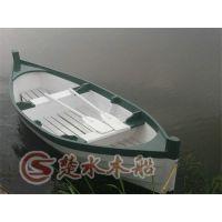 济南木船厂定制出手工打造欧式木船 手划船 摇橹船 观光旅游船 服务类船出售
