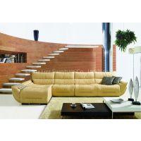 L.P2087J-Yellow Italian Leather Corner Sofas from China