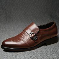 2015新款温州品牌男士皮鞋外贸男鞋真皮布洛克男式单鞋批发鞋子