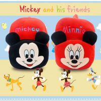 迪士尼米奇米妮毛绒卡通双背包儿童书包特价促销爆款热卖