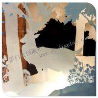 圣诞橱窗装饰 圣诞工艺道具定制 圣诞节布置方案设计