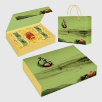 南京厂家定制高档茶叶包装礼盒吸铁翻盖盒