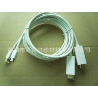 供应MINI DP转HDMI高清视频线材 mini displayport to hdmi高清线