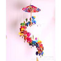 泰国进口七彩雨伞风铃挂饰特色家居挂件 泰国民族风手工纸风铃
