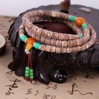 新款天然菩提子佛珠手串 印尼红血丝菩提子108颗 低价批发