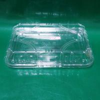 厂家直销 一次性多格塑料盒批发 方形水果塑料盒 透明塑料食品盒