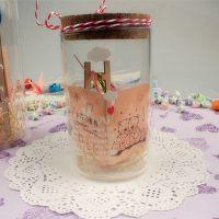 圆柱体 超透明木塞瓶 幸运星瓶许愿瓶玻璃瓶1314星星瓶纸鹤瓶