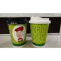 南京粥杯定制价格 双淋膜粥杯 350ml粥杯带盖子 粥杯印logo