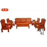 鲁创红木厂家直销--麒麟送子沙发
