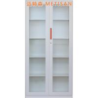 沈阳金属透明玻璃对开门器械柜