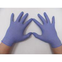 芜湖丁腈手套 AClean洁净丁腈手套A级紫蓝薄款一次性丁晴丁腈橡胶乳胶实验室医用PVC防静电手套