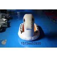甘肃亚图卓凡厂家直销 充气船狗大型水池水上漂浮玩具充气水上斑点狗充气水上小黄鸭船