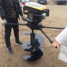 启航牌双人植树地钻挖坑机 汽油打洞机 种植打桩机